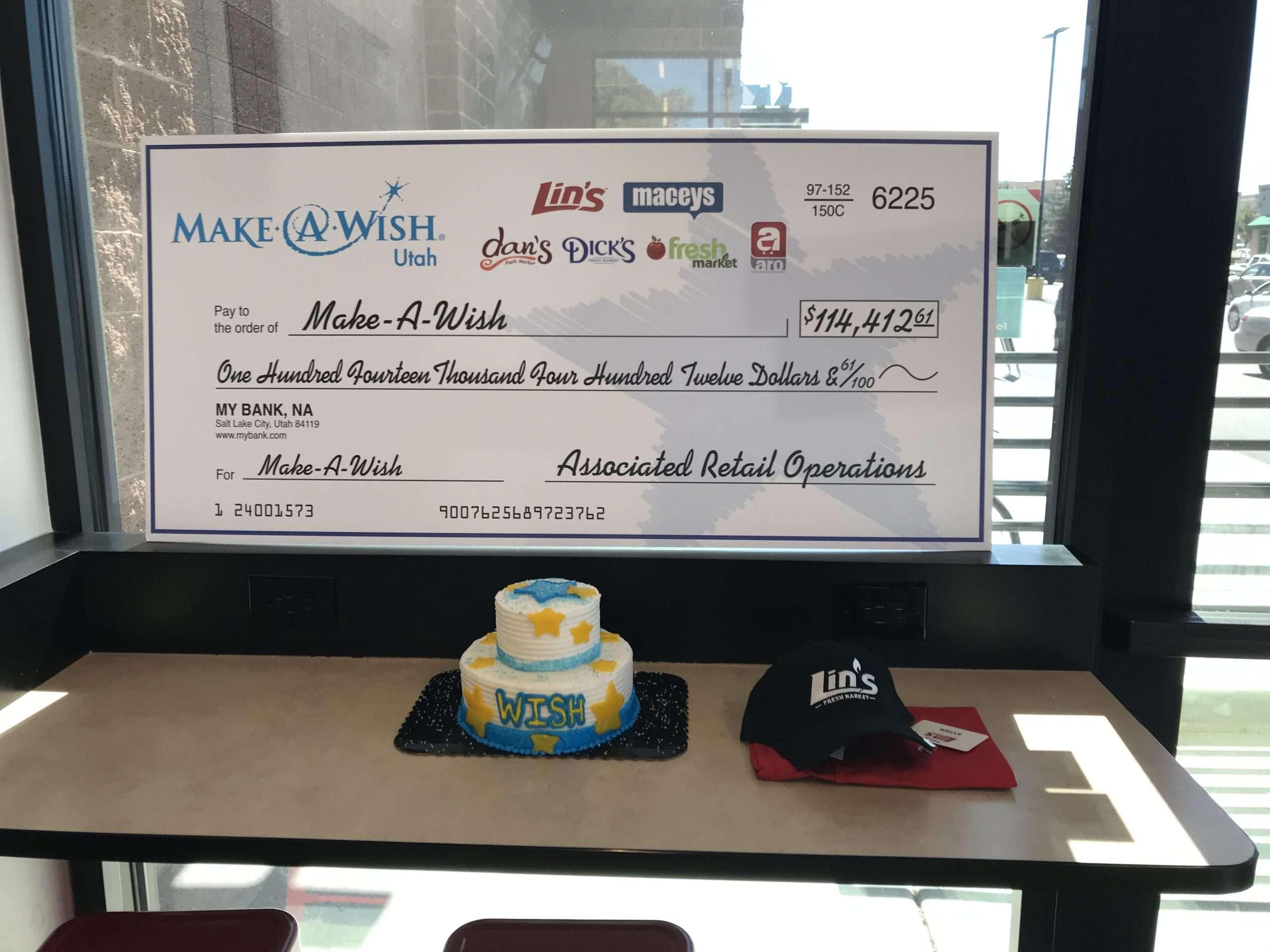 Five Utah Grocery Stores Donate $114,412.61 to Make-A-Wish® Utah