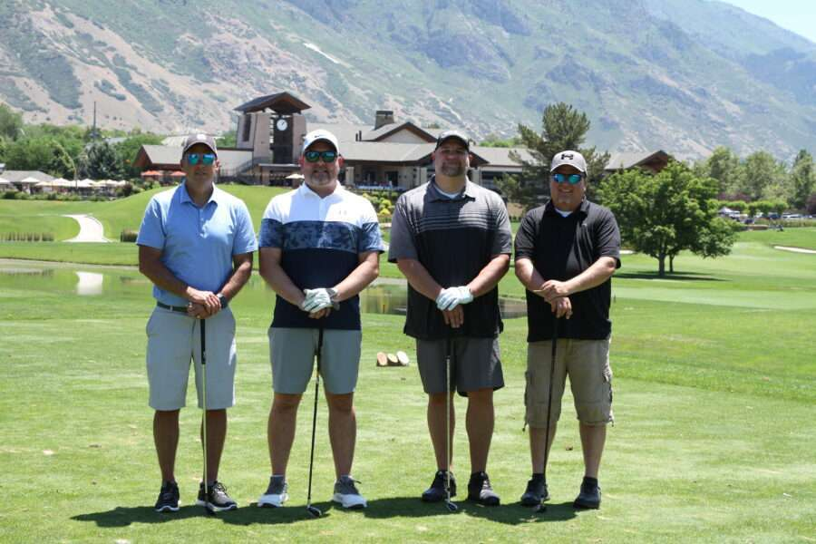 Participants in the golf tournament