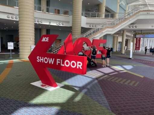 ace show floor sign